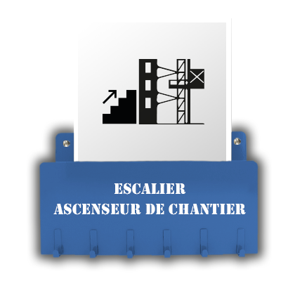 Escalier - Ascenseur de Chantier